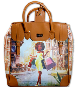 Regular Ren Milan Rolling Leather Tote