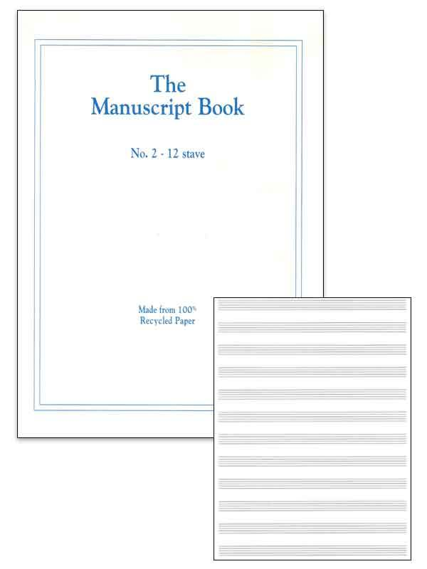MANUSCRIPT BK 2 12 STAVE (RECYCLED) 48PP STAPLED