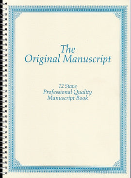 ORIGINAL MANUSCRIPT BK 50PP 12 STAVE SPIRAL SIDE