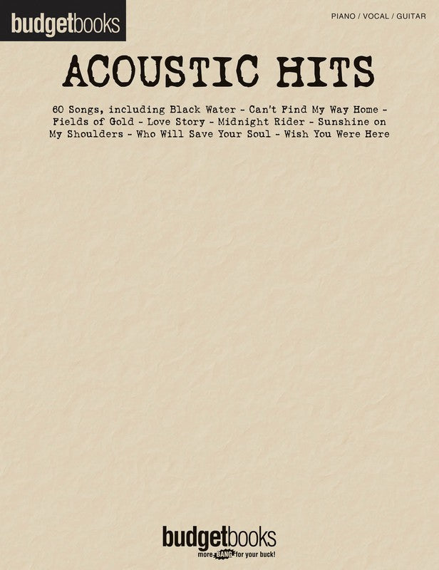 BUDGET BOOKS ACOUSTIC HITS PVG