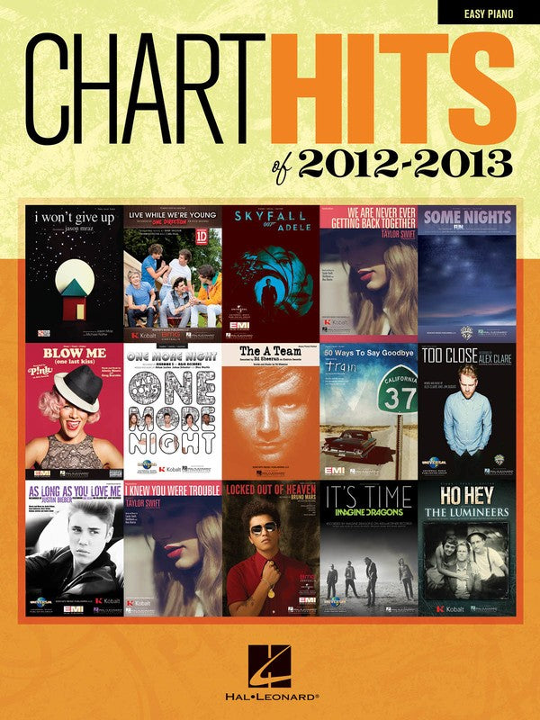 CHART HITS OF 2012 - 2013 EASY PIANO