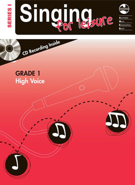 SINGING FOR LEISURE BK/CD GRADE 1 HIGH SERIES 1
