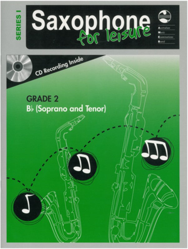 SAXOPHONE FOR LEISURE GRADE 2 B FLAT BK/CD SER 1