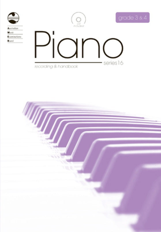 PIANO GRADE 3 TO 4 SERIES 16 CD/HANDBOOK AMEB