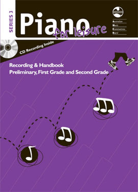 AMEB PIANO FOR LEISURE PRELIM TO GR 2 SERIES 3 CD HANDBOOK