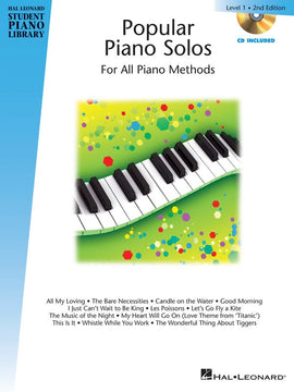 HLSPL POPULAR PIANO SOLOS BK 1 BK/CD 2ND ED