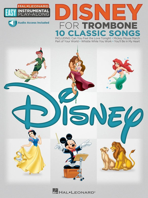DISNEY FOR TROMBONE EASY INSTRUMENTAL PLAY ALONG