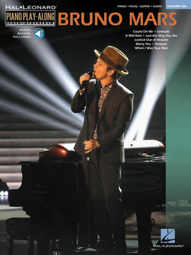 BRUNO MARS PIANO PLAYALONG V126 BK/CD