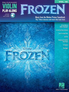 FROZEN VIOLIN PLAYALONG V48 BK/OLA