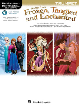 SONGS FROM FROZEN TANGLED & ENCHANTED TRUMPET OL