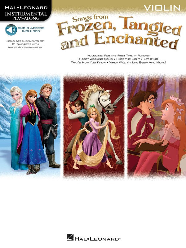 SONGS FROM FROZEN TANGLED & ENCHANTED VIOLIN OLA
