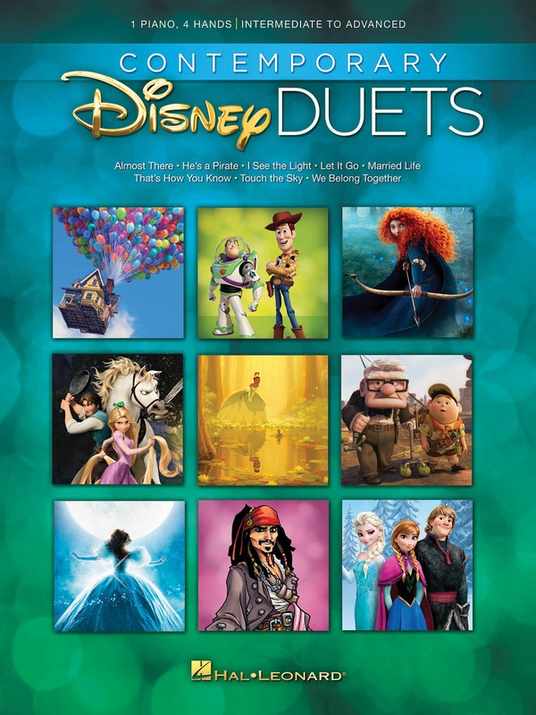 CONTEMPORARY DISNEY DUETS INT - ADV PIANO