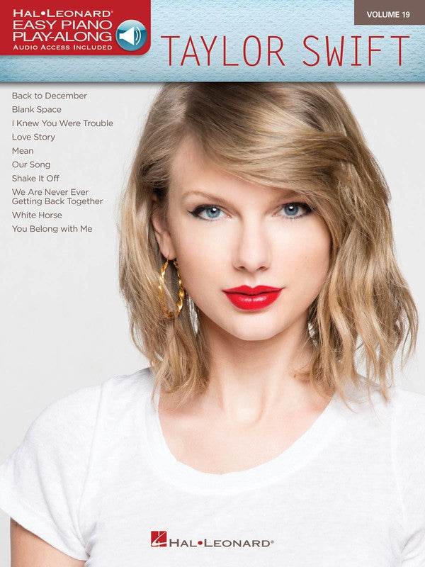 TAYLOR SWIFT EASY PIANO PLAY ALONG V19 BK/OLA