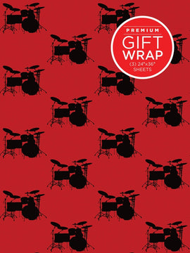 Gift Wrap Paper - Drumset Theme
