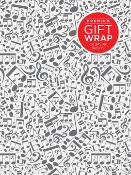 Gift Wrap Paper - Music Notes Theme