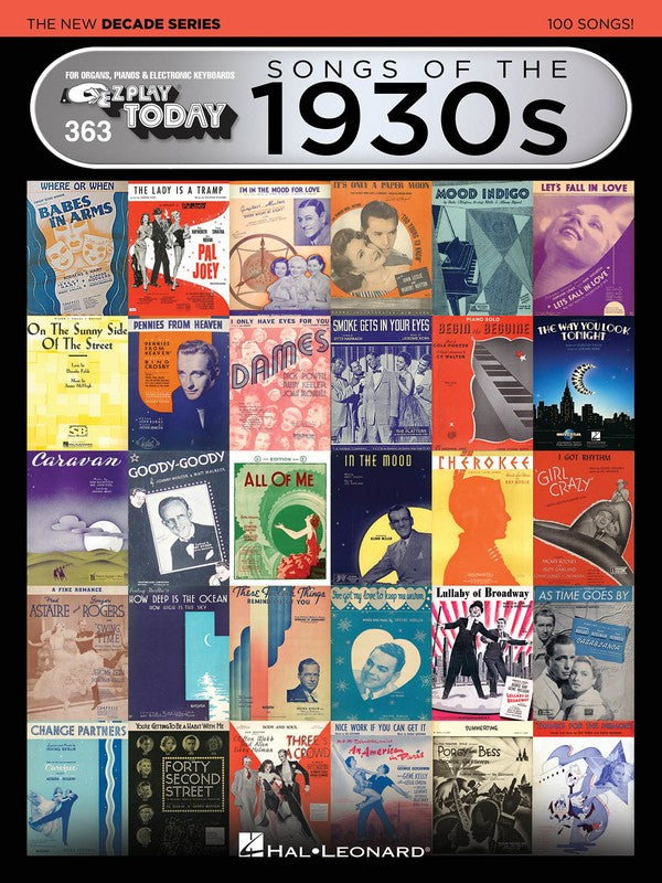 EZ PLAY 363 SONGS OF 1930S NEW DECADE SERIES