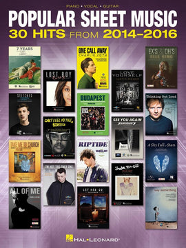 POPULAR SHEET MUSIC 30 HITS 2014-16 PVG