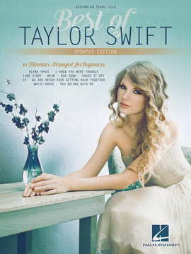 BEST OF TAYLOR SWIFT BEGINNING PIANO SOLO UPDATED