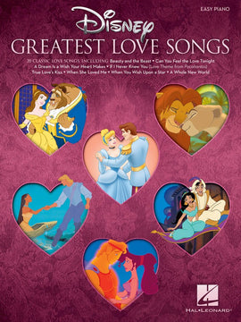 DISNEYS GREATEST LOVE SONGS EASY PIANO