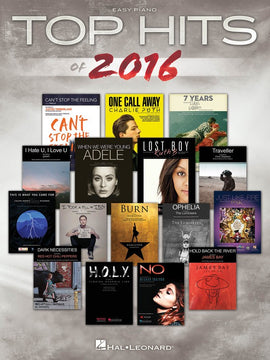 TOP HITS OF 2016 EASY PIANO