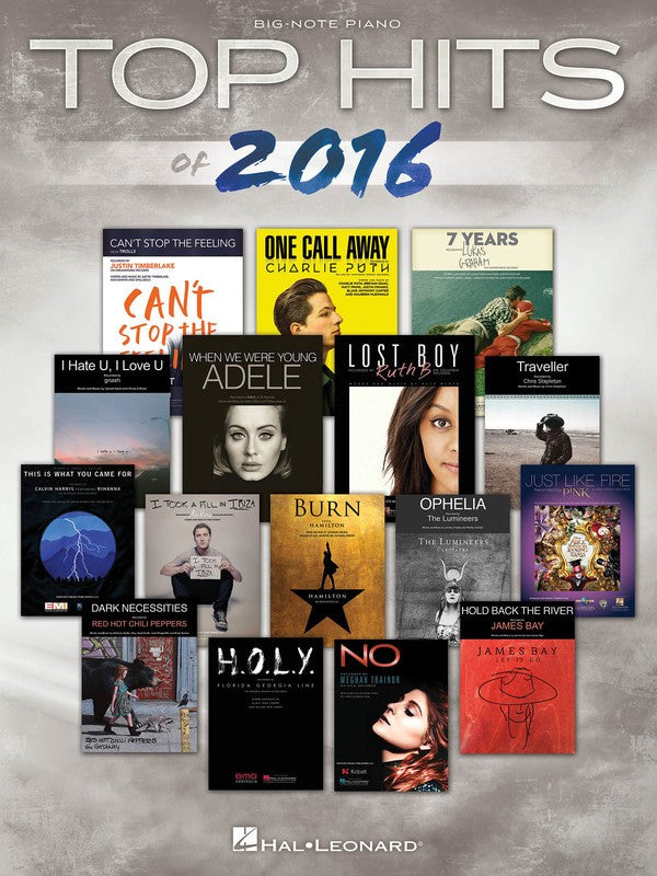 TOP HITS OF 2016 BIG NOTE PIANO