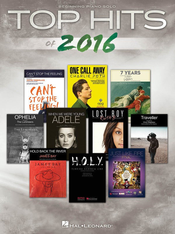 TOP HITS OF 2016 BEGINNING PIANO