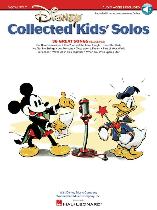 DISNEY COLLECTED KIDS SOLOS BK/OLA