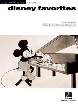 DISNEY FAVORITES JAZZ PIANO SOLOS V51