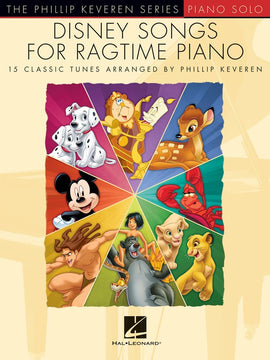DISNEY SONGS FOR RAGTIME PIANO KEVEREN SERIES
