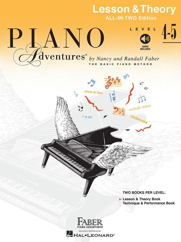 PIANO ADVENTURES ALL IN TWO 4-5 LESSON THEORY