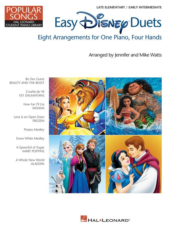 EASY DISNEY DUETS HLSPL POPULAR SONGS