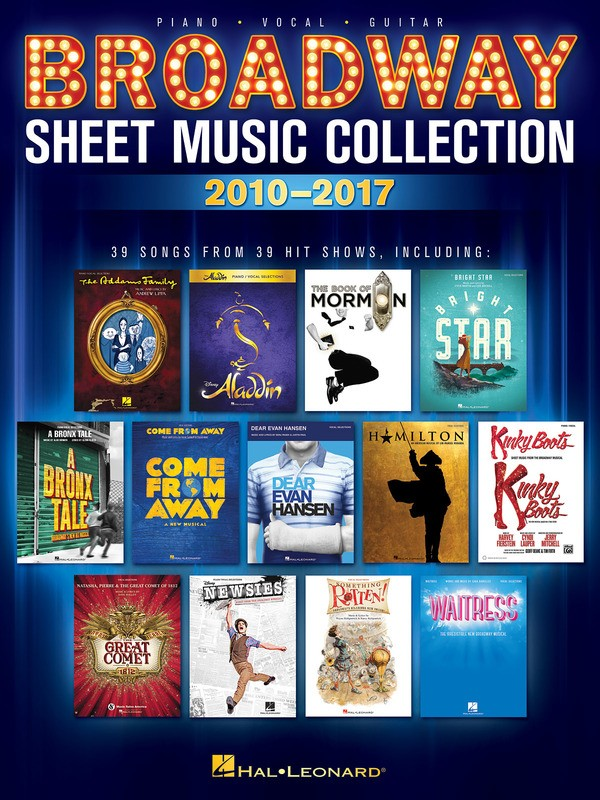 BROADWAY SHEET MUSIC COLLECTION 2010-2017 PVG