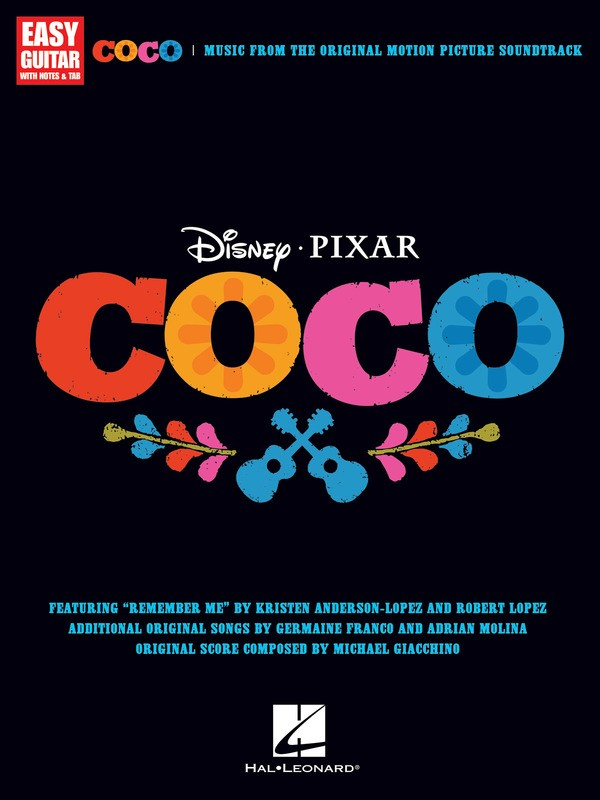 COCO MOVIE SOUNDTRACK EASY GUITAR NOTES & TAB