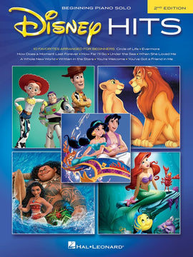 DISNEY HITS BEGINNING PIANO SOLO 2ND EDITION