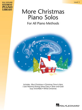 HLSPL MORE CHRISTMAS PIANO SOLOS LEVEL 3