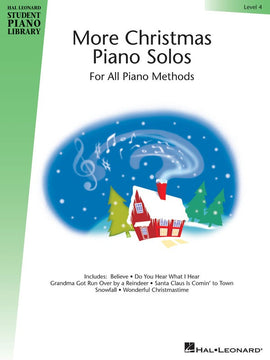 HLSPL MORE CHRISTMAS PIANO SOLOS LEVEL 4