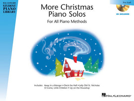 HLSPL MORE CHRISTMAS PIANO SOLOS PRESTAFF BK/CD