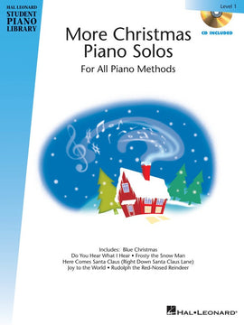 HLSPL MORE CHRISTMAS PIANO SOLOS LEV 1 BK/CD