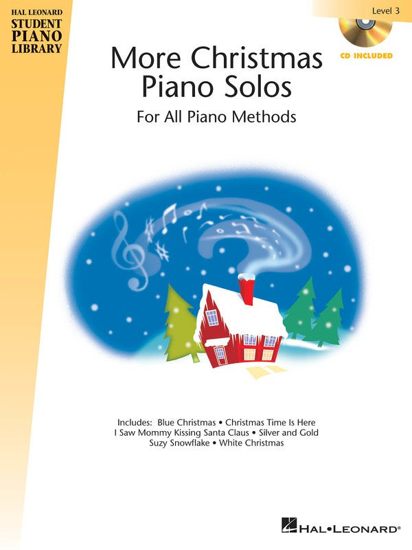 HLSPL MORE CHRISTMAS PIANO SOLOS LEV 3 BK/CD