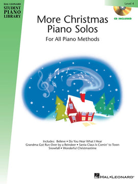 HLSPL MORE CHRISTMAS PIANO SOLOS LEV 4 BK/CD