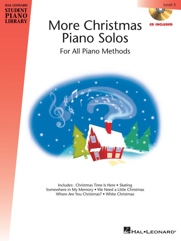 HLSPL MORE CHRISTMAS PIANO SOLOS LEV 5 BK/CD