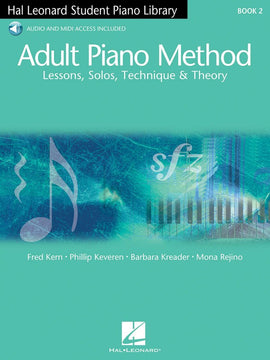 HLSPL ADULT PIANO METHOD BK 2 BK/OLA