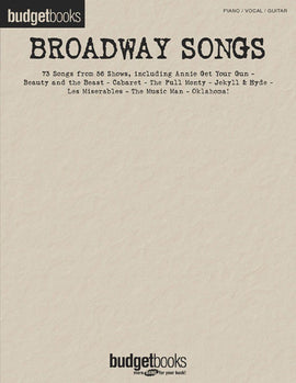 BUDGET BOOKS BROADWAY SONGS PVG