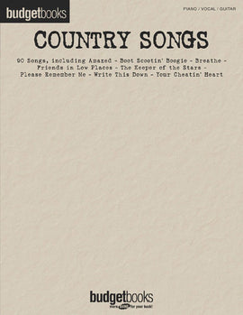 BUDGET BOOKS COUNTRY SONGS PVG