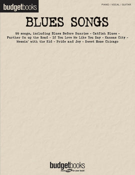 BUDGET BOOKS BLUES SONGS PVG