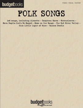 BUDGET BOOKS FOLK SONGS PVG
