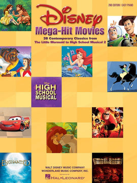 DISNEY MEGA HIT MOVIES 2ND ED EASY PIANO