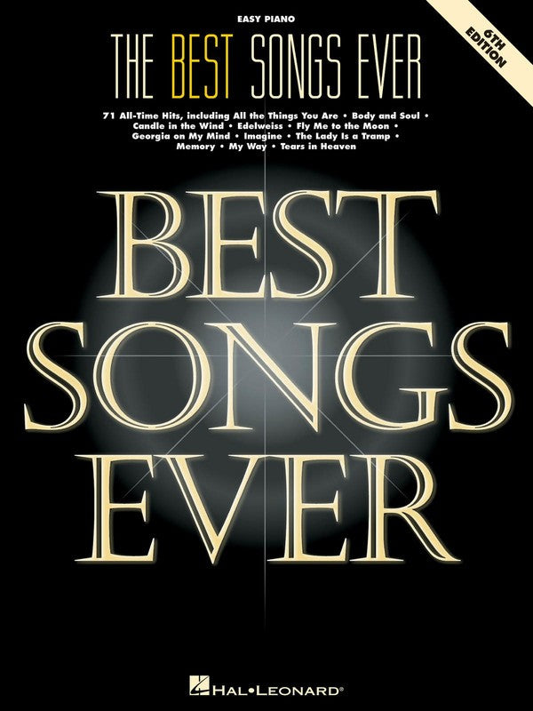 BEST SONGS EVER EASY PIANO 6TH ED