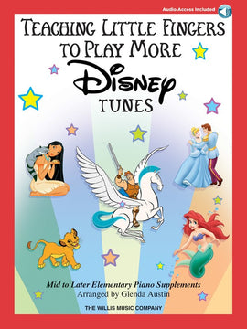 TEACHING LITTLE FINGERS TO PLAY MORE DISNEY TUNES BK/CD