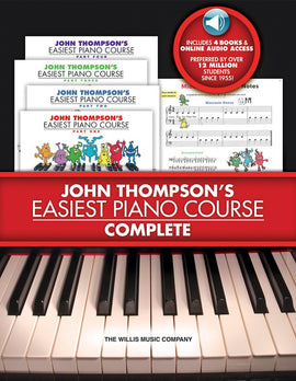 EASIEST PIANO COURSE - COMPLETE BKS 1-4 (US EDITION)